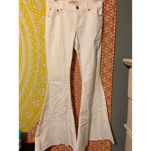 White bell bottom free people pants!